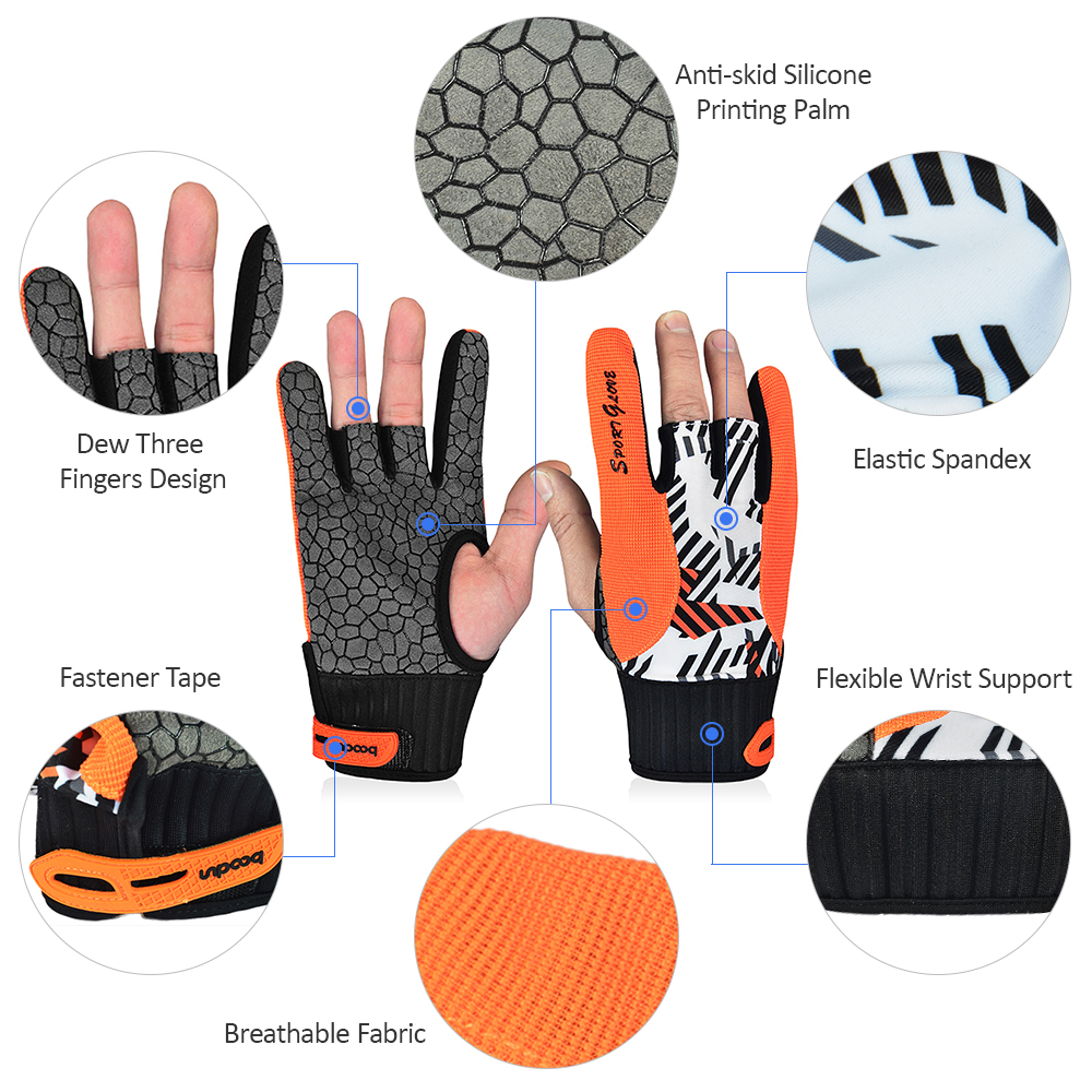 Professional Bowling Gloves Breathable Gym Gloves  3