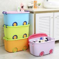 OUNONA Baby Toys Storage Box Clothes Storage lockers Home Drawer Storage Basket With wheels Stackable Latch Box Containers Bins