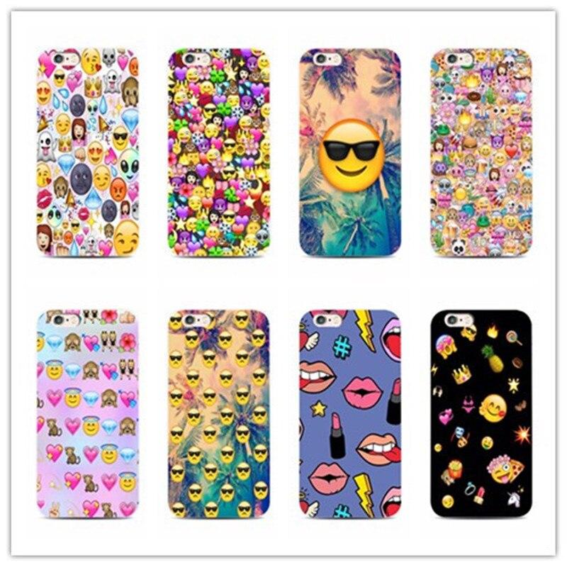 Удовольствия улыбка Уход за кожей лица <font><b>emoji</b></font> конструкция телефон чехол для iPhone 7 Plus 4 4S 5 S 5 C 6S для Samsung s5 S4 S 6S 7 край крышки