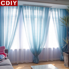 CDIY Modern Tulle Curtains For Living Room Bedroom Kitchen Solid Sheer Curtains Voile Curtains Window Screening Drapes Decor цена и фото