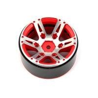 4pcs 1.9 Inch RC Tires Beadlock Alloy Wheels Hub Beadlock Rim Set for 1/10 RC Car Model Toy Component Spare Parts RC Tires