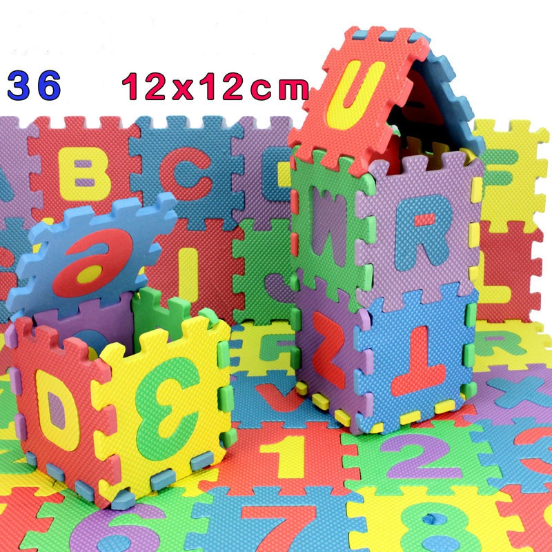 36Pcs Educational EVA Floor Play Mat Baby Foam Puzzle Alphabet Numbers GameToys