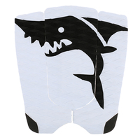 Unisex 3pcs Surfboard Traction Tail Pads Surfing Surf Deck Grips Black White Shark Anti Slip Water