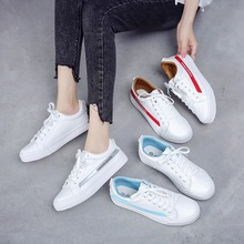 Female 2018 Spring New Flat Bottom Shoes Summer Student Breathable White Casual Women