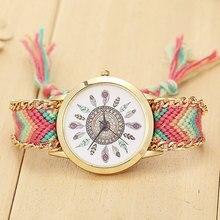 Watch Women Yarn feather women leisure quartz watches   elmers relogio masculino zegarek damski quartz wristwatches cartoon fish women leisure watch