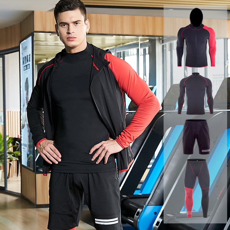 4PCS Sportswear Suits GYM Tights Sports Men s Compression Training Clothes Suits Workout Jogging Sports Clothing
