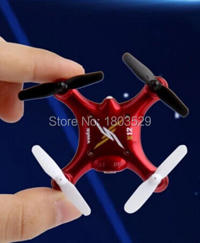 Free Shipping Hot Sell X12S mini Nano 6-Axis Gyro 4 Channel 2.4G RC Quadcopter RTF 3D 36 ...