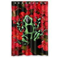 Fashionable Design Tropical Rainforest Vibrant Tree Frog Waterproof Custom Shower Curtain Bathroom Decor Polyester