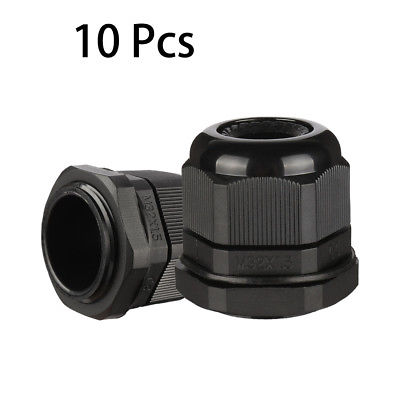 10 Pcs M32 IP68 Nylon Cable Gland Joint Adjustable for 16mm-21mm Dia Cable Wire nylon cable connector waterproof nylon plastic gland pg7 9 11 13 5 16 19 21 25 29