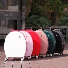 0e89a434f Puede sentarse mujeres coreanas rodando equipaje Spinner 20 pulgadas de  alta capacidad de moda bolsas de