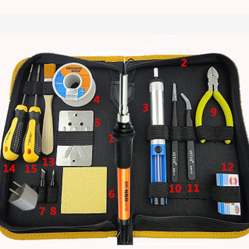 60W 35W 220V Electric Soldering Iron Kit Welding Solder Soldering Station With Iron Tip Desoldering Pump 936 soldering station 220v 60 65w electric soldering iron for solder adjustable machine make seals tin wire solder tip