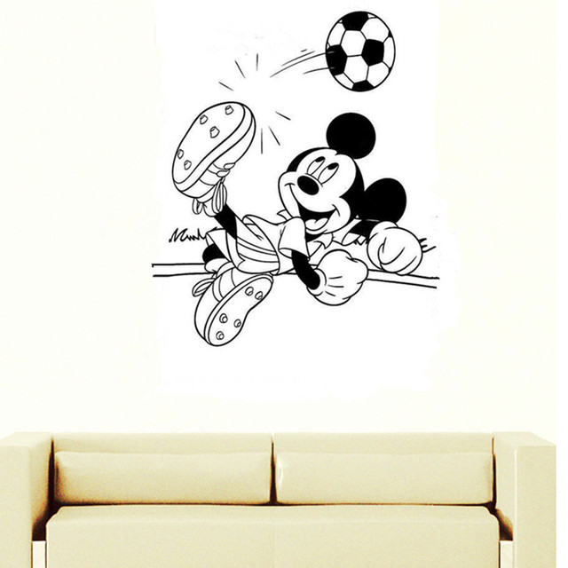CaCar New Wall Stickers Large Size MICKEY MOUSE kids Childrenu0027s bedroom DIY vinyl wall art decals  sc 1 st  AliExpress.com & CaCar New Wall Stickers Large Size MICKEY MOUSE kids Childrenu0027s ...