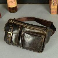 Новые горячие Винтаж Bolsas couro натуральная кожа поясная сумка модная мужская маленькое путешествие талии сумки кошелек Для мужчин женские су...