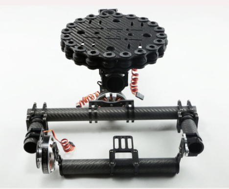 FC Model Carbon Fiber 3-axis Brushless Camera Gimbal Mount Kit w/ Motors GBM5210-150T for 5D2 5D3 D800 FPV Aerial Photography dys 3 axis gimbal mount kit 3pcs 4108 brushless motor 8bit alexmos controller for sony nex ildc camera photography fpv