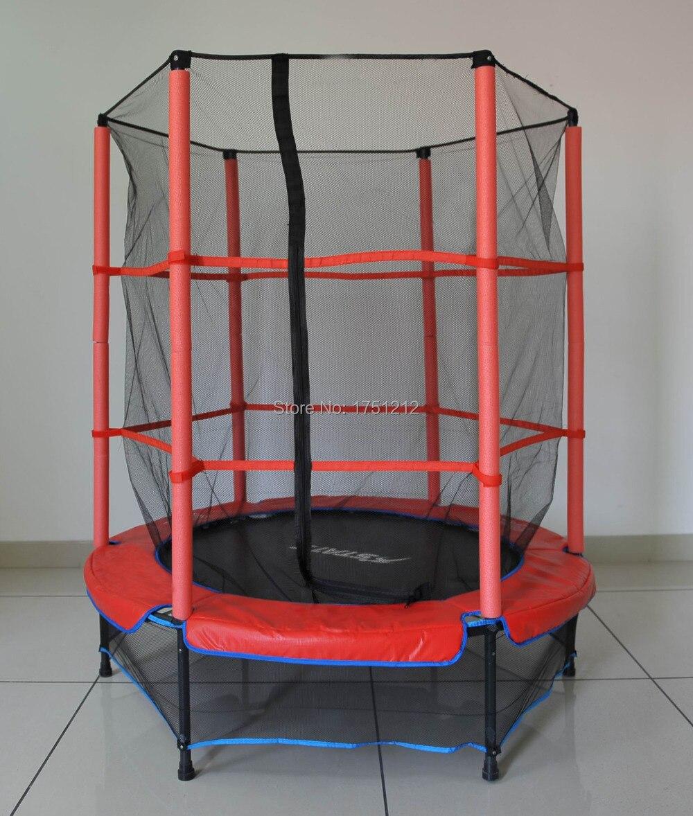 Trampoline de sécurité de piétinine certifié par TUV de 3 jambes de Mini Trampoline de 55 pouces pour des HZ-55inch d'enfants