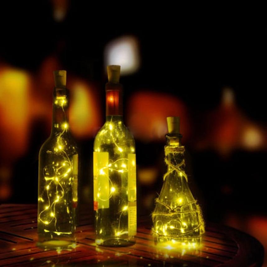 Топ Великий Солнечный бутылки вина Корк свет строка в форме 10 светодиодов Фея свет лампы рождественские украшения свет для партии десантны... ...