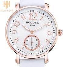 2016 tendencia de La Moda Holuns grandes dial cuarzo Impermeable Casual reloj de las mujeres, de Acero Inoxidable amor especial regalo para la muchacha de la señora