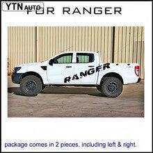 רכב מדבקות 2 Pcs פס להגן שריטה צד גוף אחורי trunk גרפי ויניל מותאם אישית עבור פורד ריינג 'ר