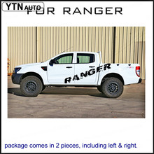 цена на free shipping 2 PC 2000mm RANGER body rear tail side graphic vinyl for Ford ranger decals