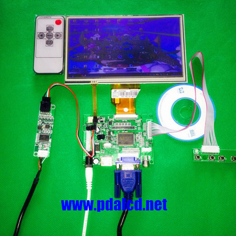 7.0 inch For Raspberry Pi LCD Touch Screen Display TFT Monitor AT070TN92 with Touch screen Kit HDMI VGA Input Driver Board the original 7 inch lcd screen at070tn92 at070tn94 industrial touch screen