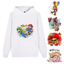 Cartoon Cool Super Mario Hooded Clothing Unisex Loose Letters Casual Harajuku Hat Hoodie Sweatshirt A193161