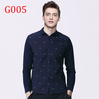 Y13 Cotton Solid White Business Formal Dress Shirts Men Long Sleeve Social Casual Shirt G005