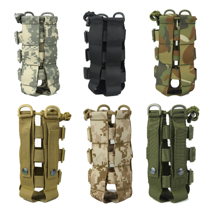 Tactical Water Bottle Pouch Military Molle System Kettle Bag Camping Hiking Travel Survival Kits Holder ZH