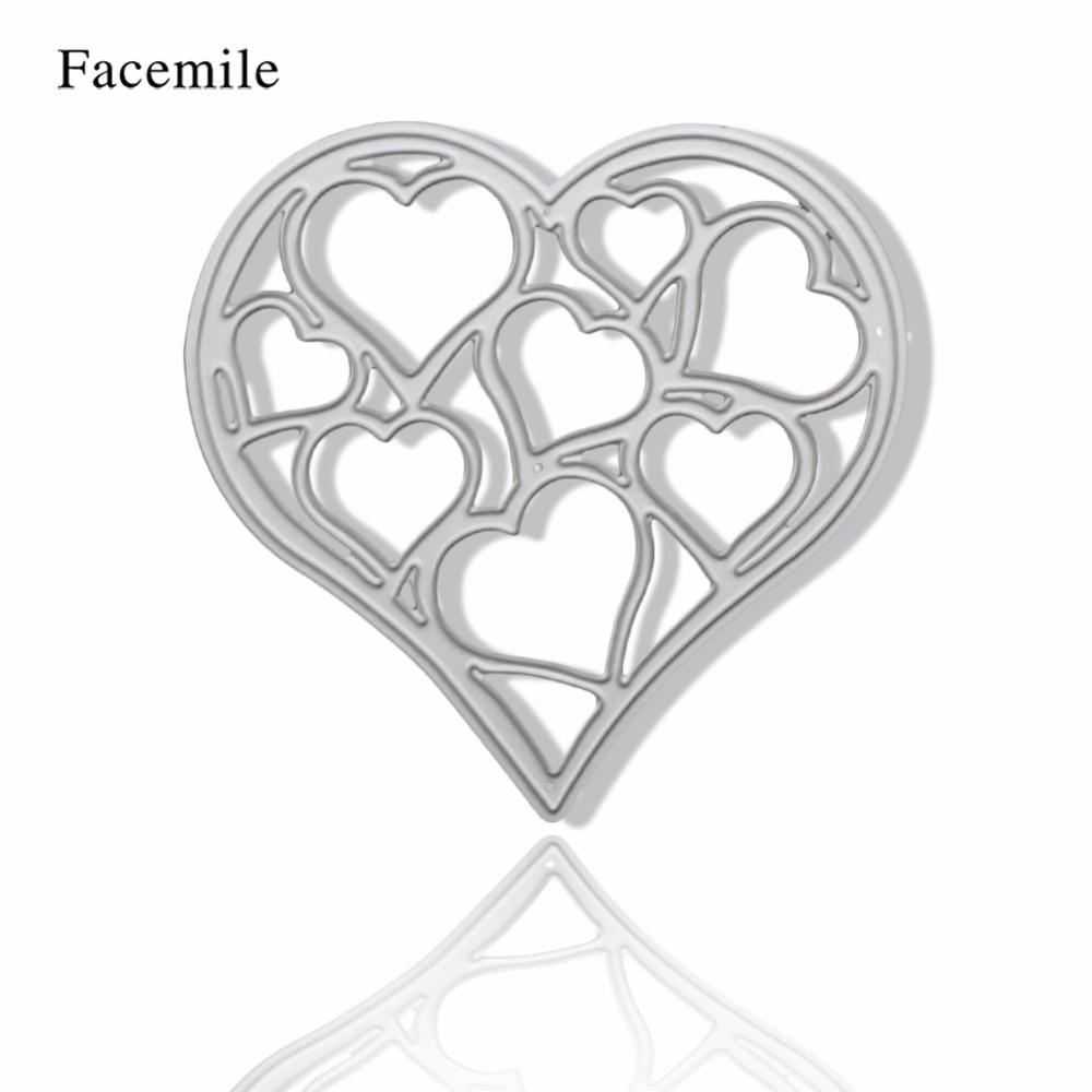 ᐊMetal Hollow corazón marcos diseño die Recortes de papel DIY ...