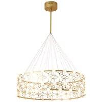 Nordic подвесные светильники Post Современный свет Роскошные Дизайнерские Золотое кольцо волна Модель простой Спальня фойе Творческий светоди