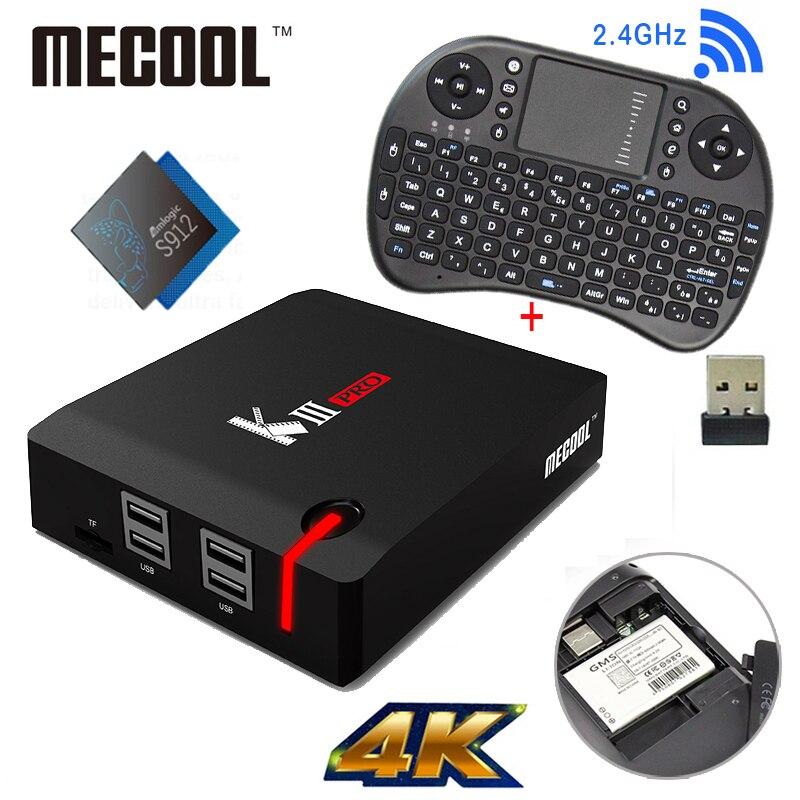 MECOOL KIII Pro DVB T2 Android TV Box 3G 16G Amlogic S912 Octa Core 4K H
