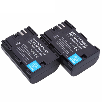 2x Digital LP-E6 LP-E6N Replacement lp e6 Battery for Canon EOS 60D 70D 5D Mark II 5D Mark III, 5D Mark IV, 5DS, 5DS R, 6D, 7D, replacement part body back cover suit for canon 5d mark ii camera repair