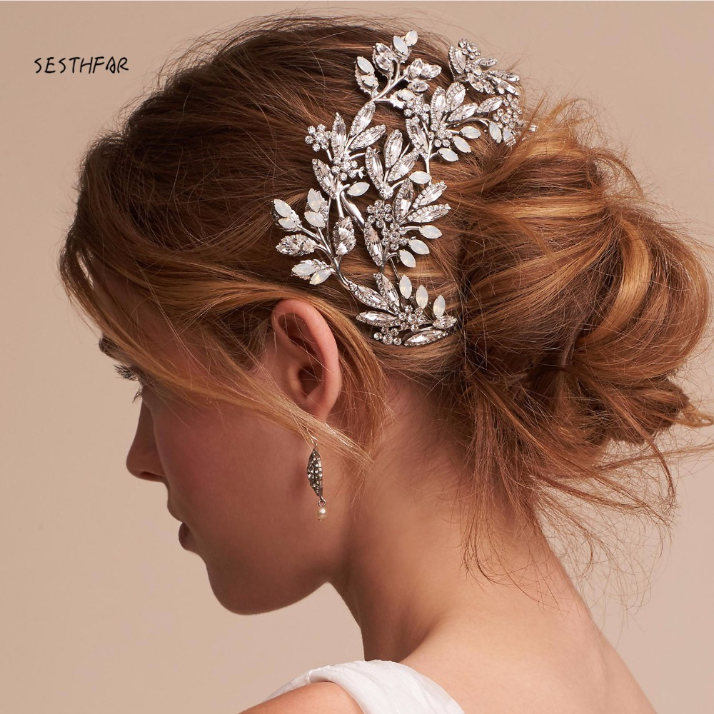 Wedding Headpiece For 2018: HP78 Luxury Diamond Bridal Accessories Sashes Hand Made