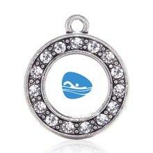 Плавание очарование антикварные серебряные позолоченные украшения