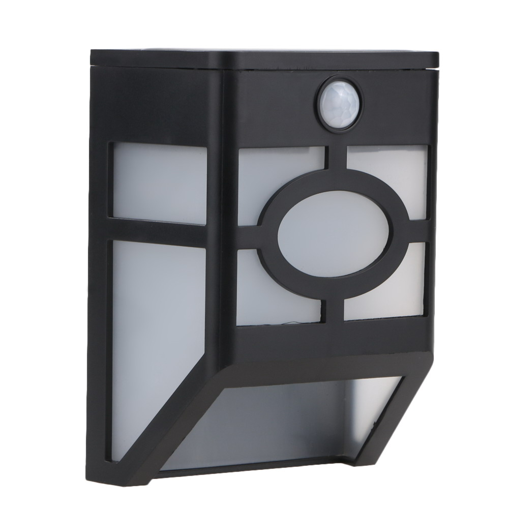 LED Solar Powered Wall Light Garden Lamp for Villa Stair Path Outdoor Garden Decoration With Night Sensor (Cold Light)