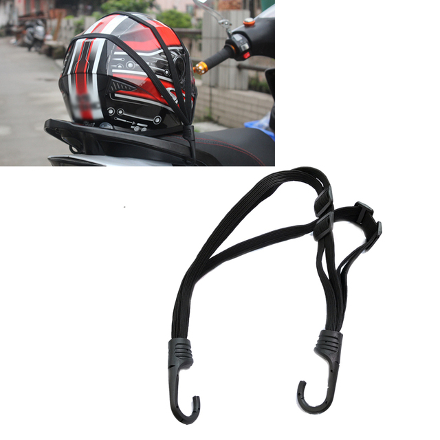 Jeazea Motorcycle Luggage Helmet Net Rope Belt Straps Bungee Cord Elastic Strap String Bag For Scooter