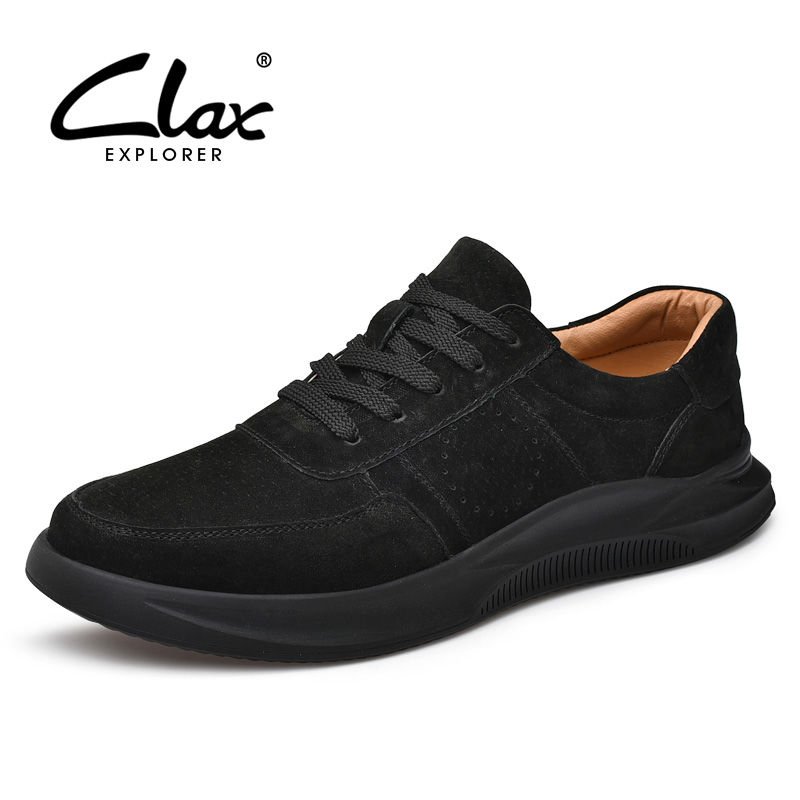 CLAX Mans   Leather   Shoes Fashion 2019 Spring Summer Male Casual Shoe   Suede     Leather   Men's Shoe Walking Footwear