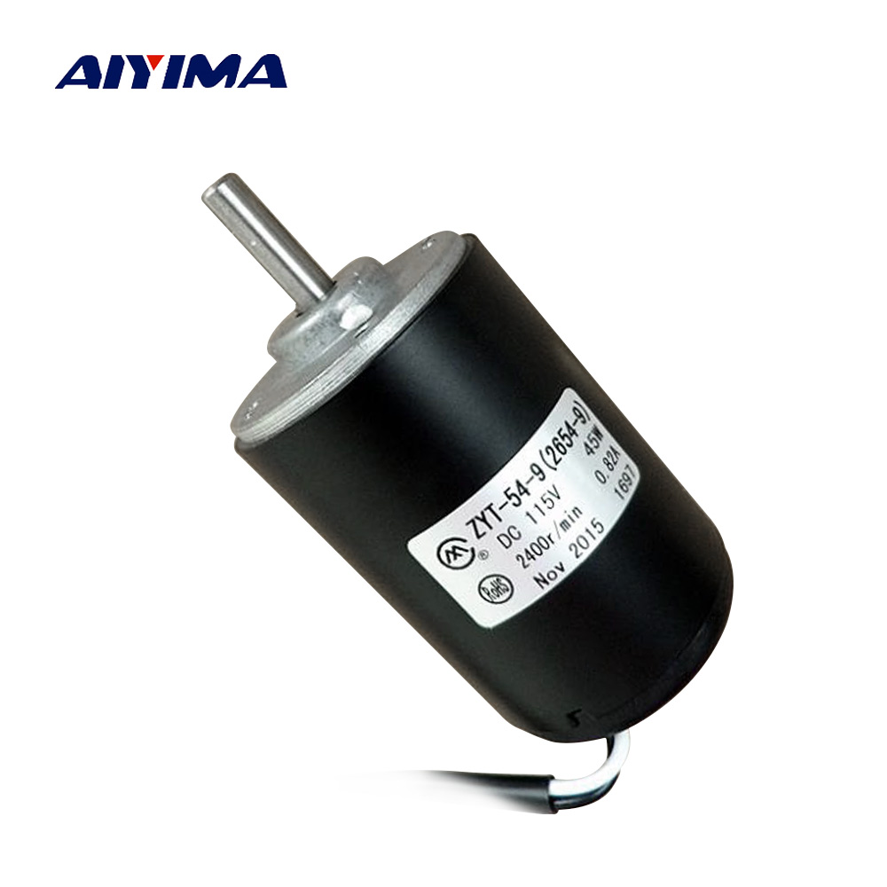 AIYIMA DC Motor 120V 45W High Power 2500 rmp Double Ball Bearing Electricity Motor For Wind Turbines DIY aiyima double ball bearing motor dc 12v dc 24v three phase hall dc brushless motors high torque mute wind turbines for diy