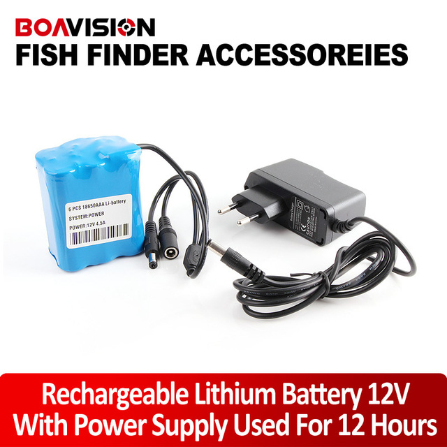Only 12V 4.5A Rechargeable Lithium Battery And Power Adapter Supply Used For 12 Hours Support Underwater Video Camera System
