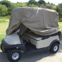 OUTAD Waterproof 2/4 Passengers Car Detector Golf Cart Storage Cover For EZ Go Club Car Taupe for Passenger Car Club