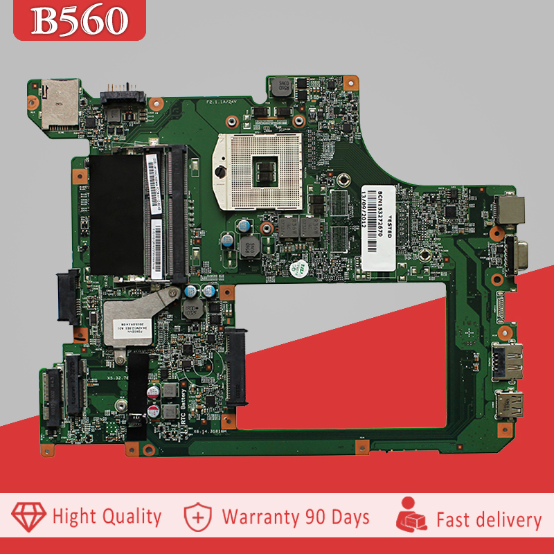YTAI 48.4JW06.011 For Lenovo B560 laptop Motherboard HM55 DDR3 PGA989 10203-1 LA56 Integrated mainboard fully tested