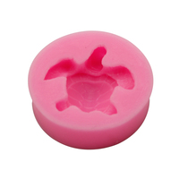 Silicone Pink Cute Turtle Design Fondant Cake Molds Chocolate Mould Decoration