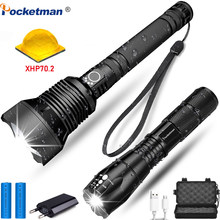 50000 lumens xhp70.2 Powerful Torch,Zoomable Waterproof Flashlight USB Charger Battery 18650 Best Camping lamp hand light(China)