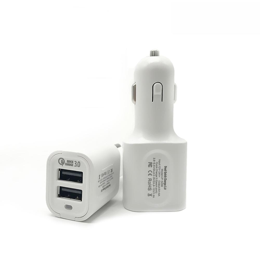 För snabbladdning 3.0 laddare 36W dubbel USB QC3.0 bil snabbladdare - Reservdelar och tillbehör för mobiltelefoner - Foto 1