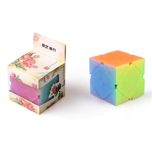 Newest QiYi Qicheng Skew Cube Anti-adhesive Magic Cube with Elastic Spring Educational Toys for Brain Trainning Jelly Color surwish yj ruilong magnetic 3x3 magic cube educational toys for brain trainning colorful