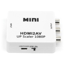 Mini 1080P HDMI VGA to RCA adapter Converter VGA2AV / CVBS Converter Connector with Audio for Notebook PC for HDTV Projector цена