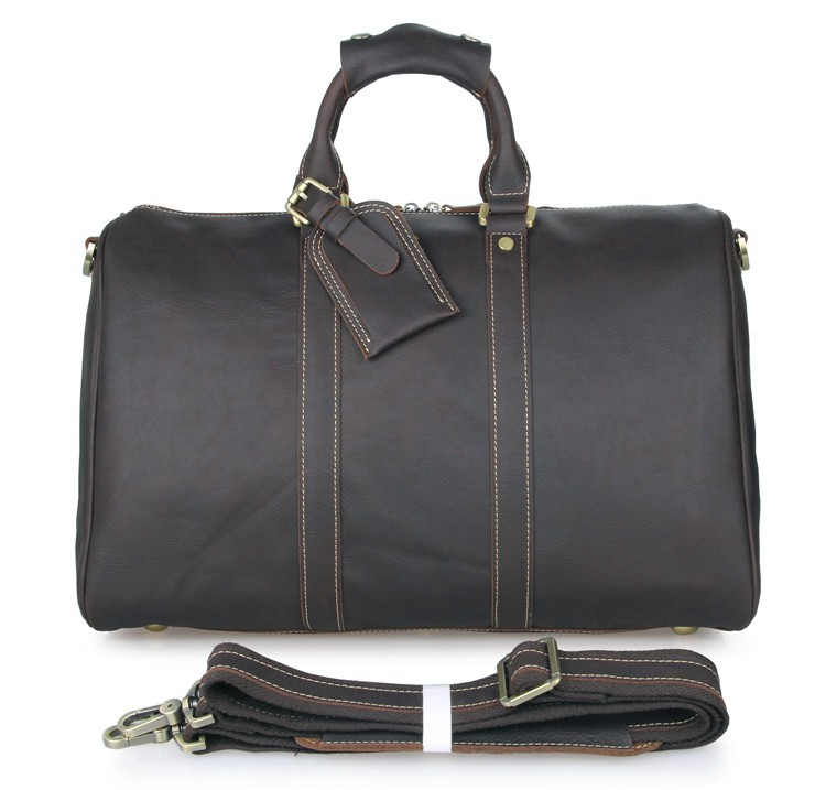 489e62f2413d 7077B Handmade Crazy Horse Leather Unique Tote Luggage Travel Bags ...