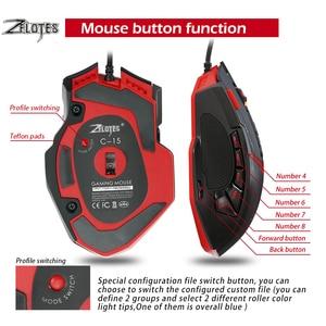 Image 5 - Zelotes C15 מחשב עכבר יד משחק משחקי עכבר 7000 DPI 13 לתכנות כפתורים משקל כוונון מחסניות משחקי עכבר