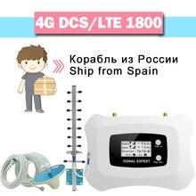 4G LTE DCS 1800 Сотовая связь усилитель сигнала 70dB усиления ЖК-дисплей Дисплей GSM Репитер сигнала группа 3 4G мобильный телефон LTE усилитель сигнала Набор/