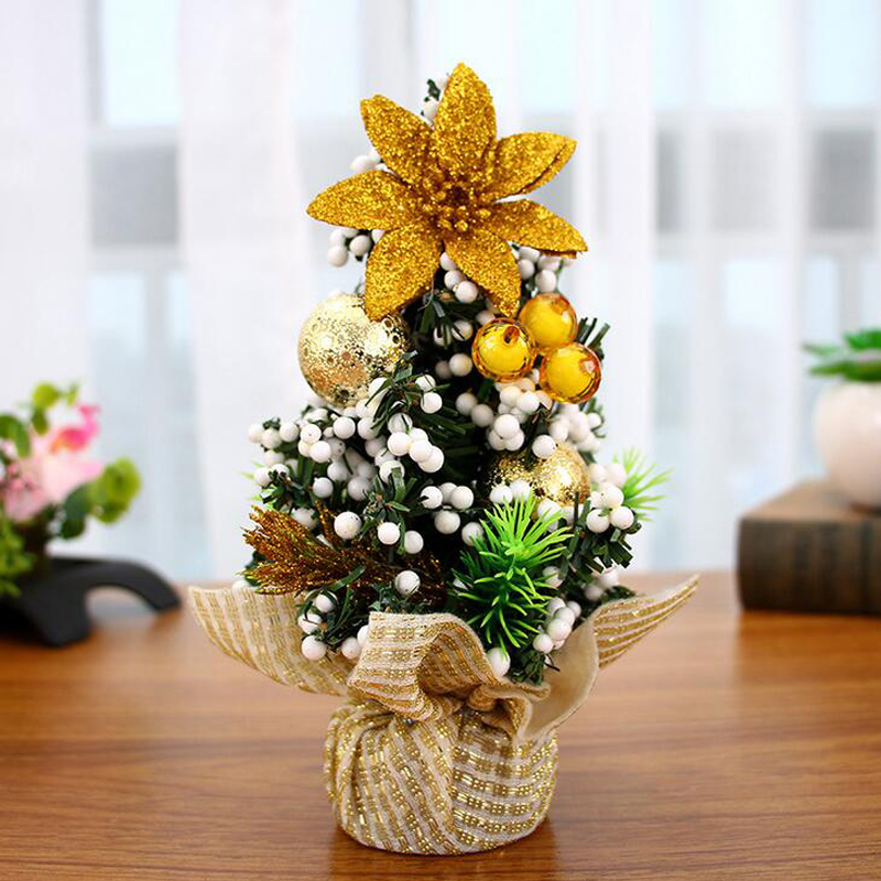 all new fashion mini christmas tree pot culture fake flower bonsai artificial tree for home hotal indoor christmas decoration in trees from home garden on