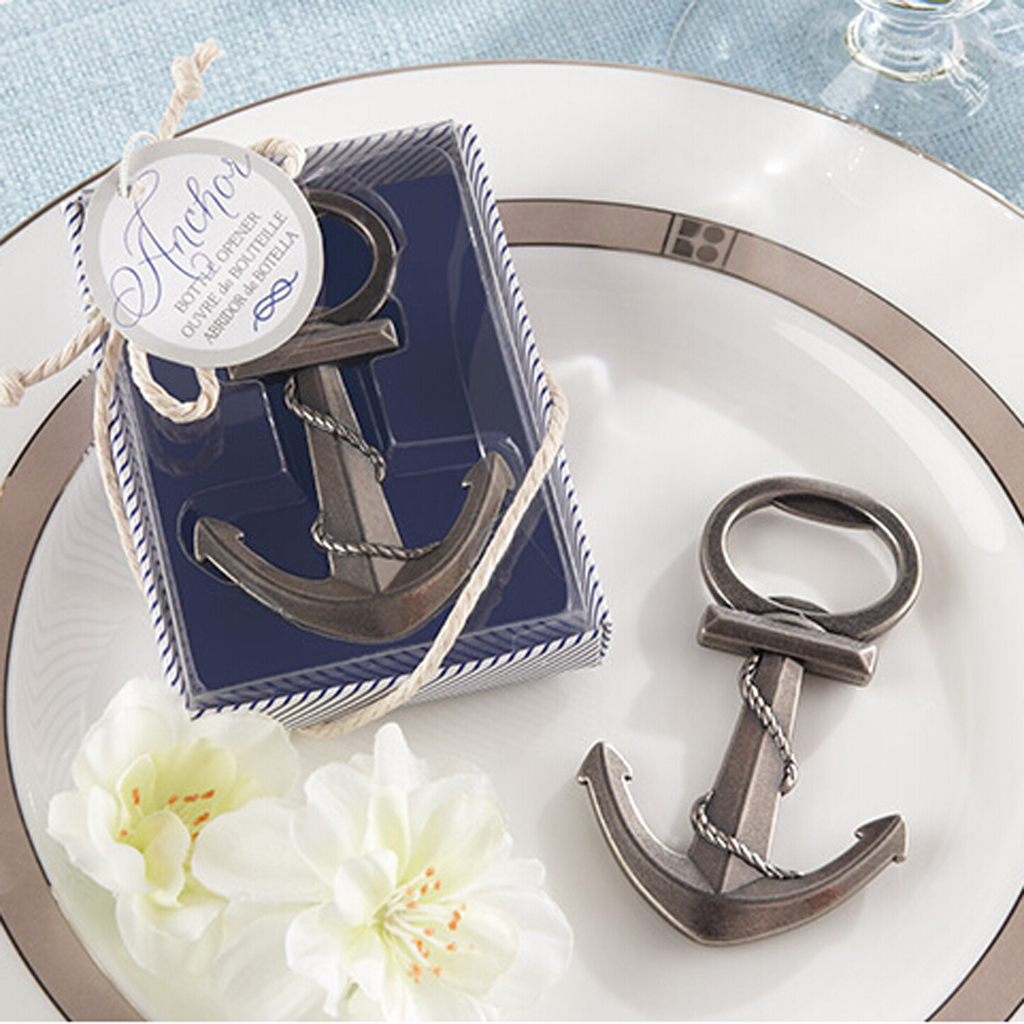 Us 3 39 44 Off New Hot Anchor Bottle Opener For Wedding Beach Themed Nautical Bridal Sea Party Decorations Party Wedding Favors In Party Diy